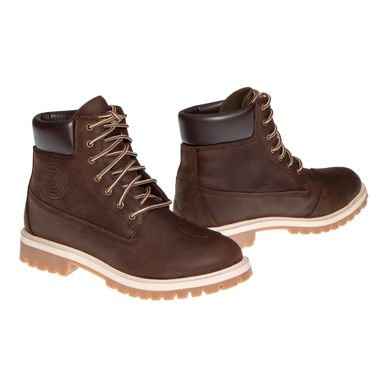 Chaussures moto cuir/textile Ixon Mud WP marron