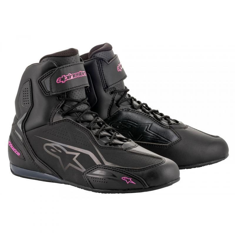 Chaussures moto femme Alpinestars Stella Faster 3 noir/fuchsia