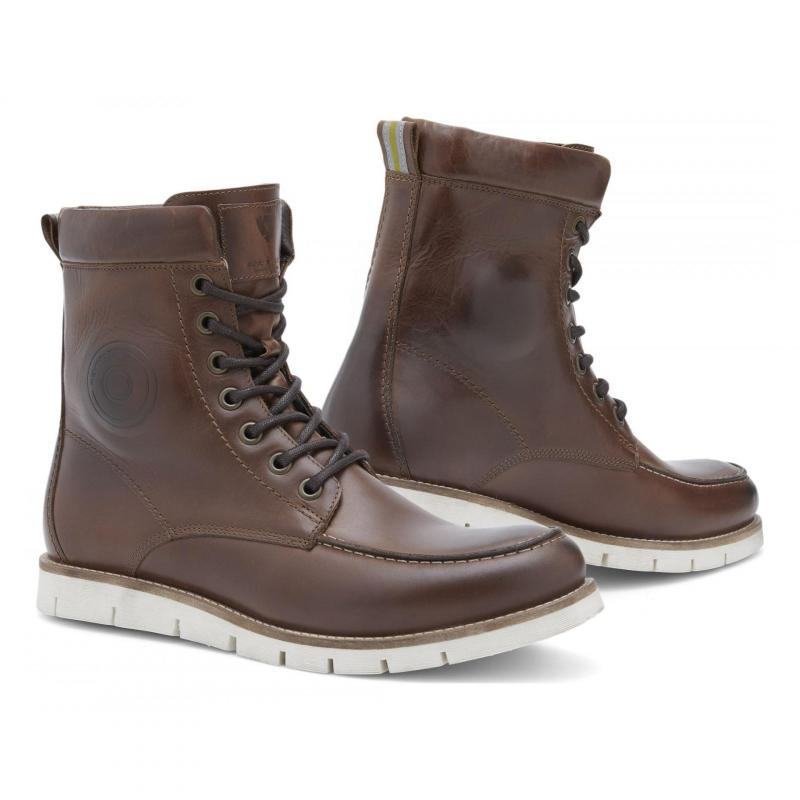 Chaussures moto Rev'it Mohawk 2 marron/blanc