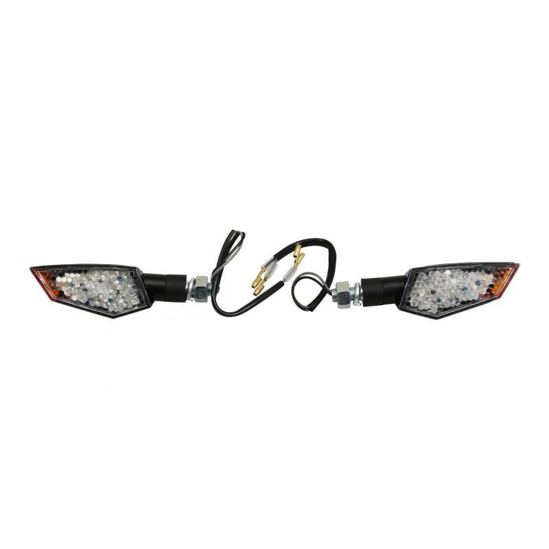 Clignotants 25 LED Avoc Konan noir / transparent