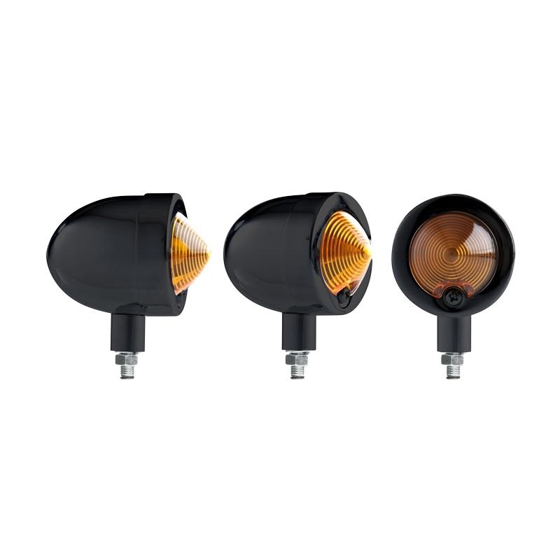 Clignotants Chaft Mustang noir orange (paire)