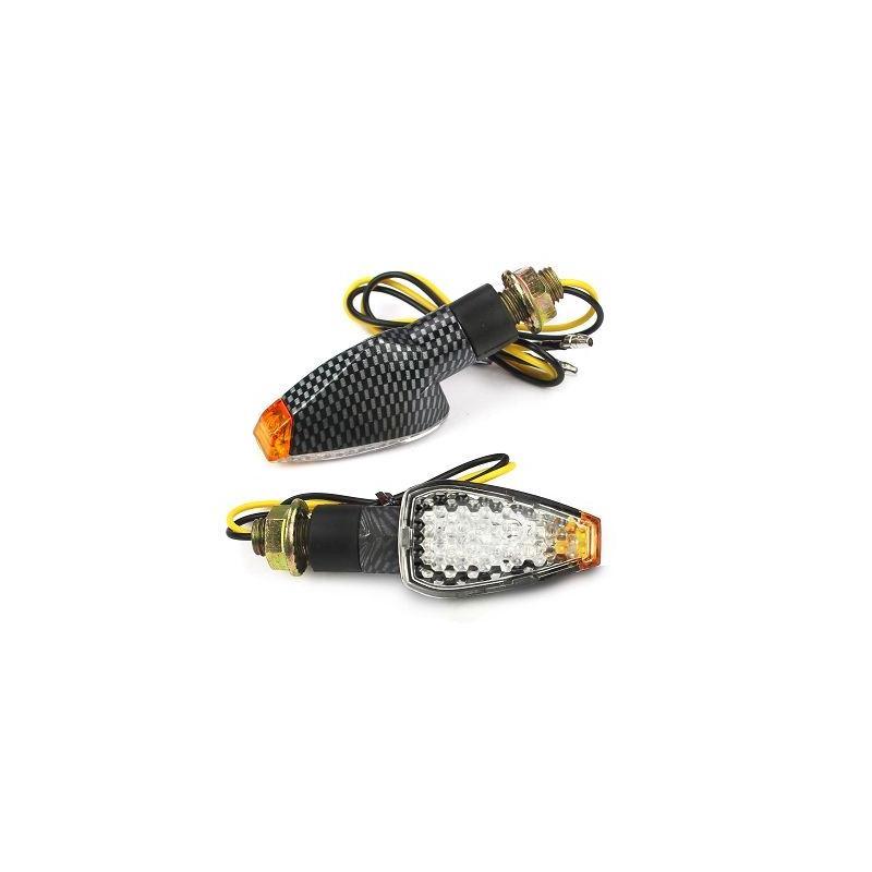 Clignotants Leds Aero carbone (paire)