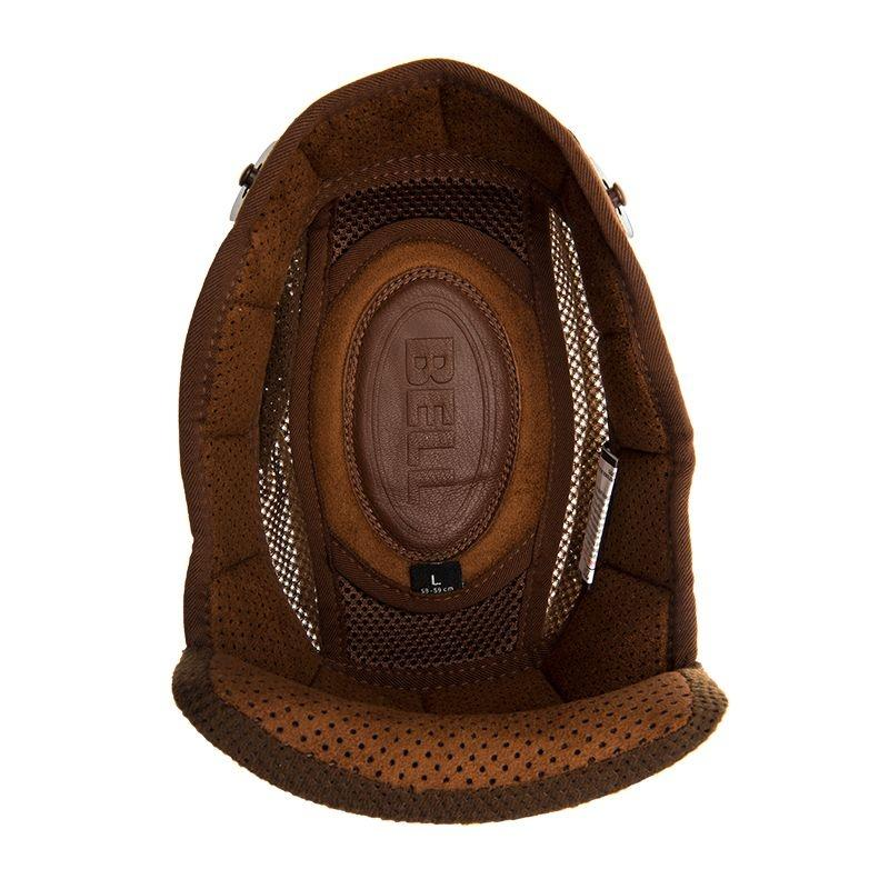 Coiffe pour casque Bell Bullitt marron