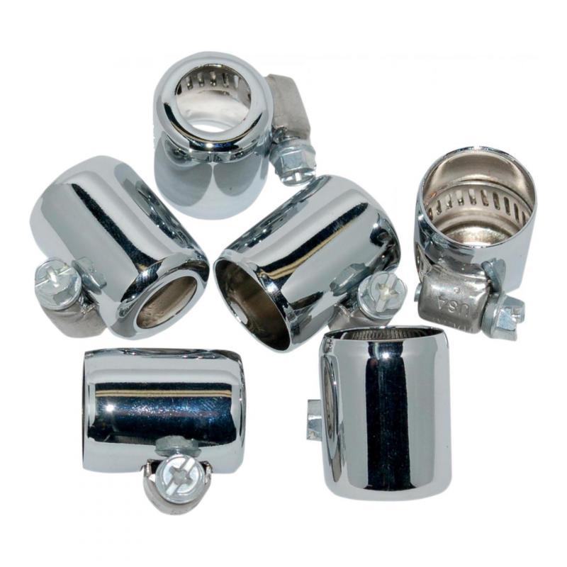 Colliers de serrage Namz durite essence 1/4''(6,4mm) - 5/16'' (7,9mm) chrome lot de 6