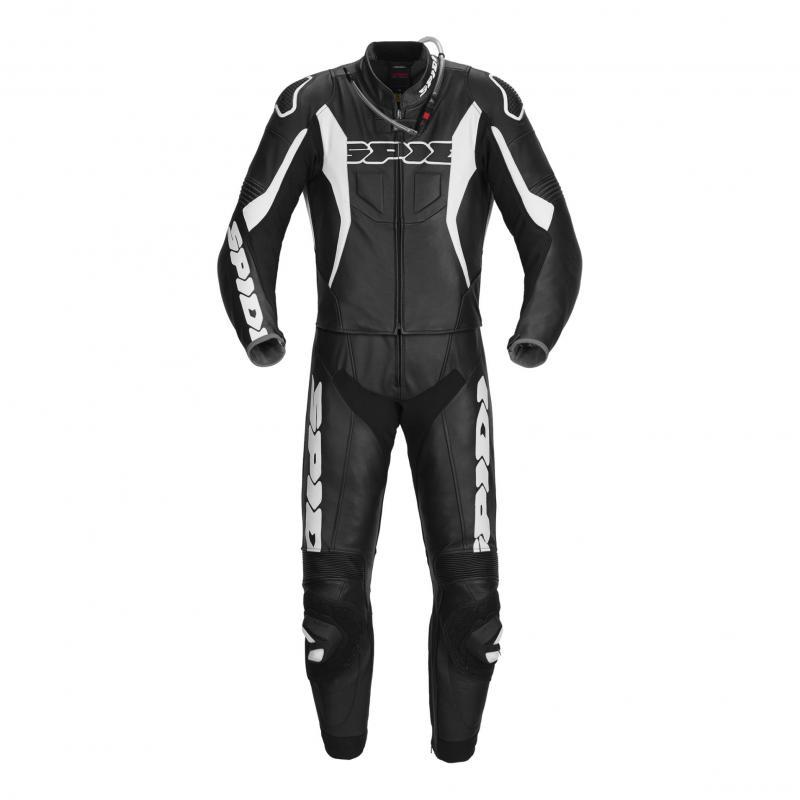 Combinaison 2 pièces cuir Spidi Sport Warrior Tour noir/blanc