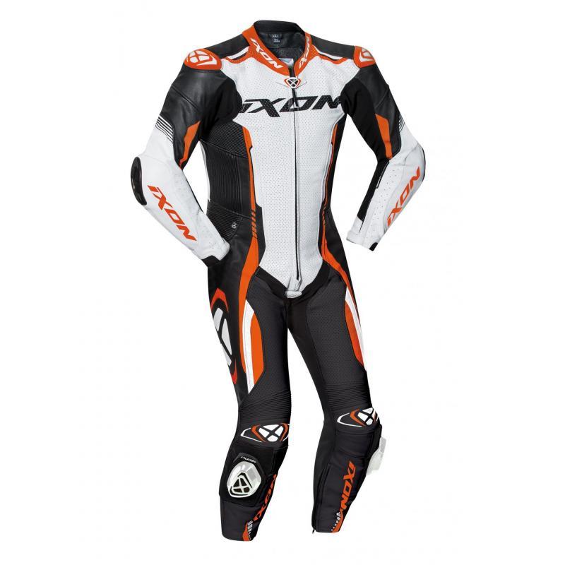 Combinaison cuir Ixon Vortex 2 noir/blanc/orange