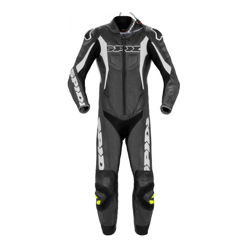 Combinaison cuir Spidi Sport Warrior P.Pro noir/blanc