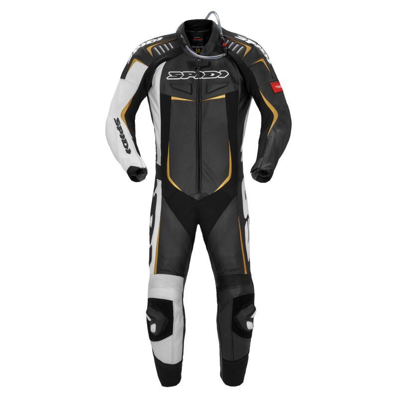 Combinaison cuir Spidi Track Wind Pro Suit noir/or