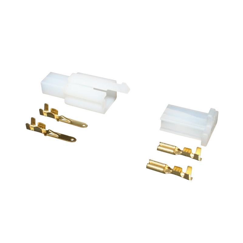 Connecteur Plastique Mâle Et Femelle 2 Fiches