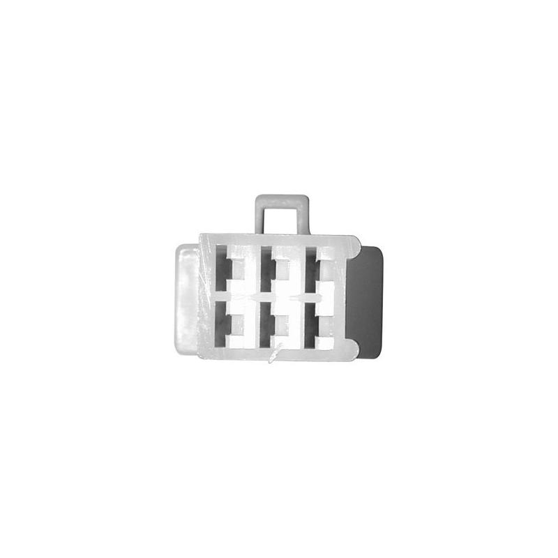 Connectique pour régulateur rectangulaire mâle - 6 cosses femelles mini