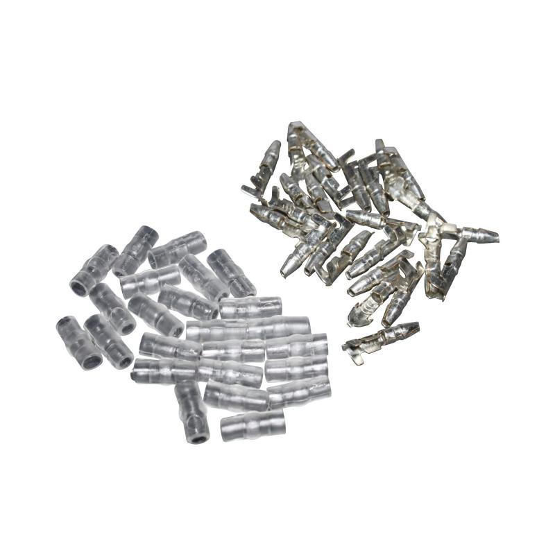 Cosse électrique ronde mâle 3,5 avec isolant - sachet de 25 pièces