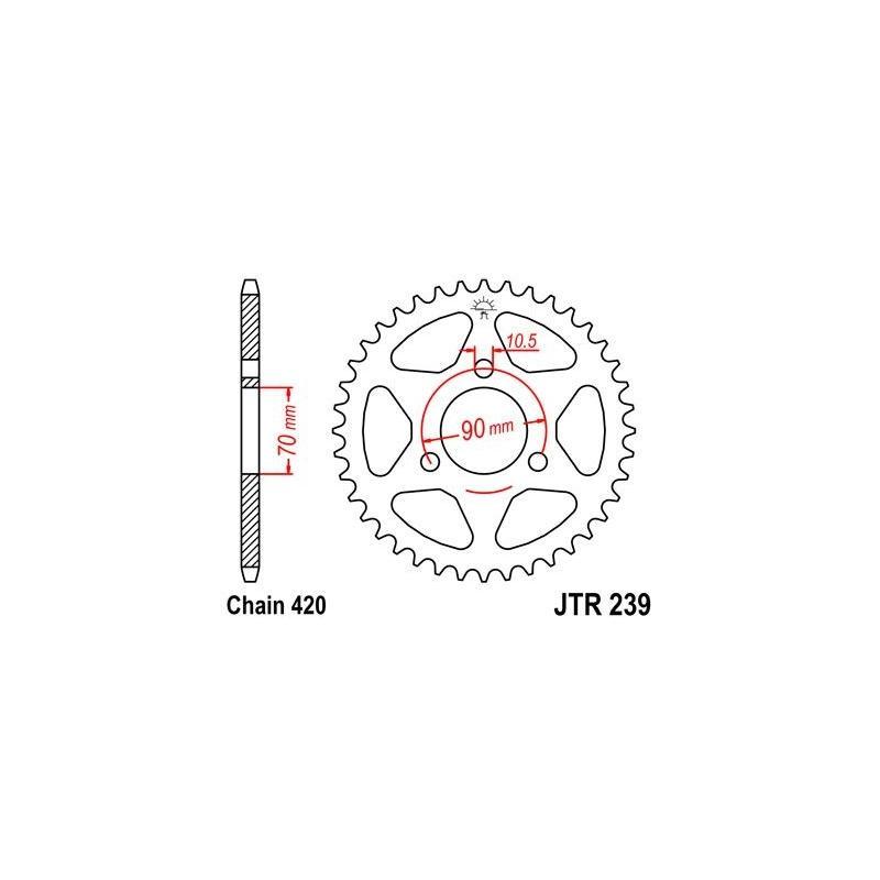 Couronne JT Sprockets Acier pas 420 40 dents - Pour Honda MT 80
