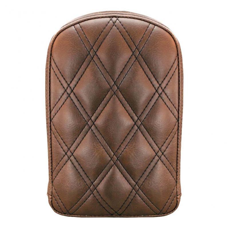 Coussin de sissybar Saddlemen rectangulaire marron coutures losange