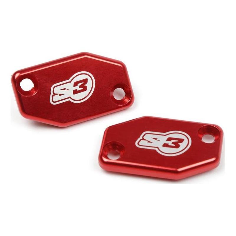 Couvercle S3 rouge pour maître-cylindre de frein Braktec