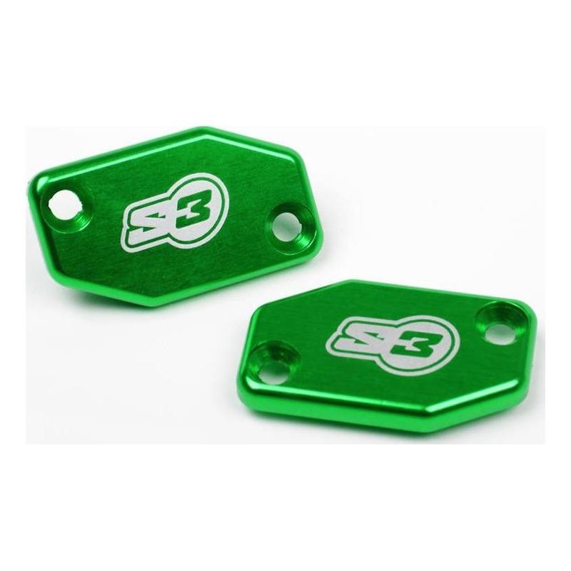 Couvercle S3 vert pour maître-cylindre de frein Braktec