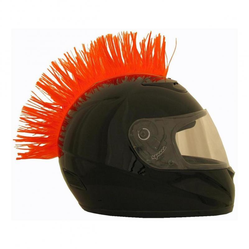 Crête de casque orange