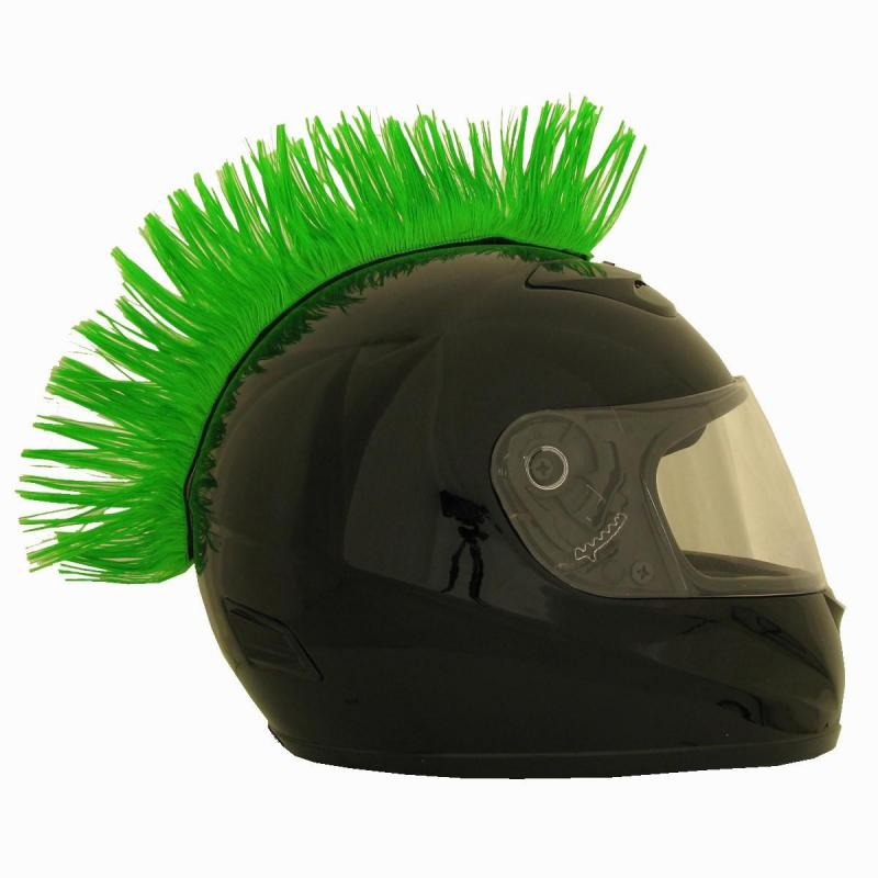 Crête de casque verte
