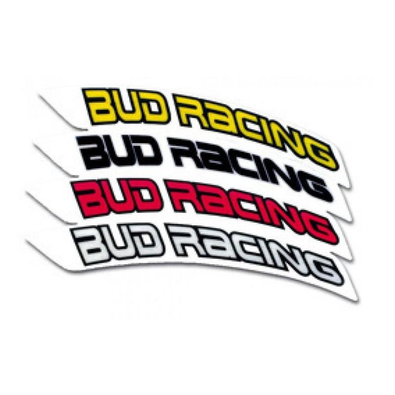 Déco de garde-boue avant Bud Racing rouge