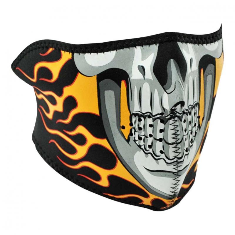 Demi-masque Zan Headgear Burning skull flamme orange