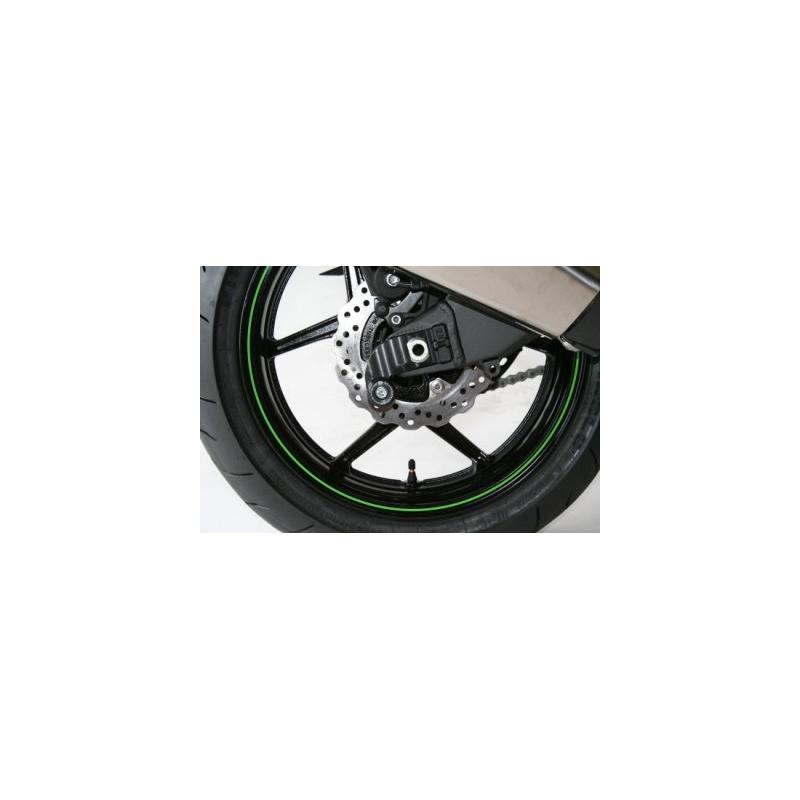 Diabolos de bras oscillant R&G Racing noir sur platine Kawasaki ZX-10R 04-10