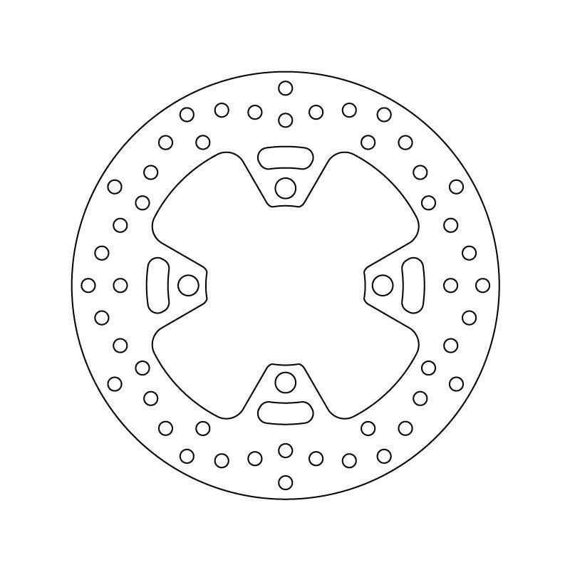 Disque de frein arrière Brembo Serie ORO rond fixe 68B407H6