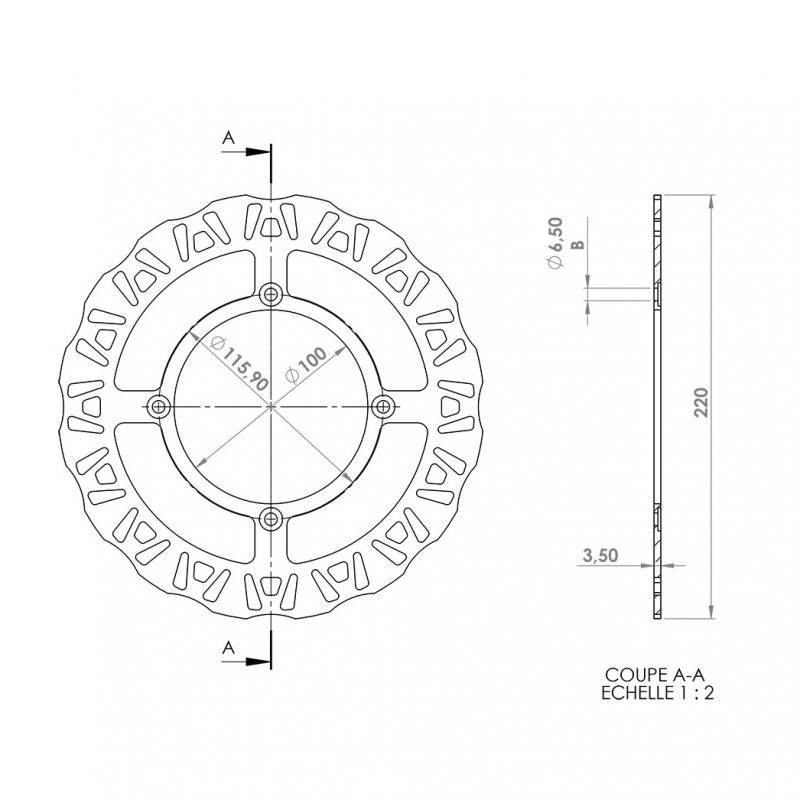 Disque de frein arrière NG Brake Disc Beta RR Motard / Enduro