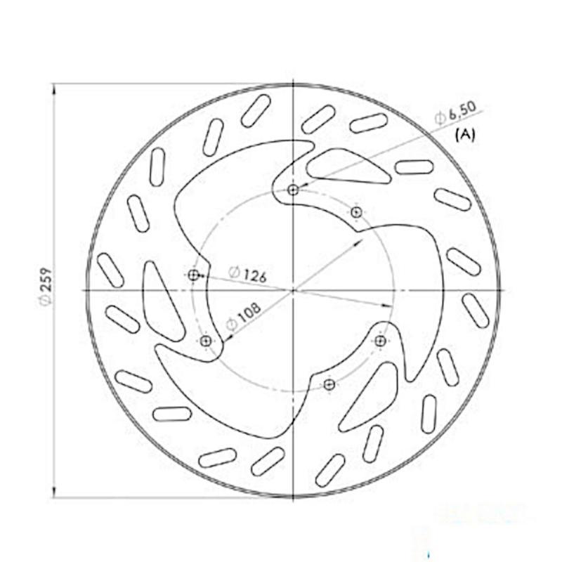 Disque de frein avant NG Brake Disc D.260 - 614