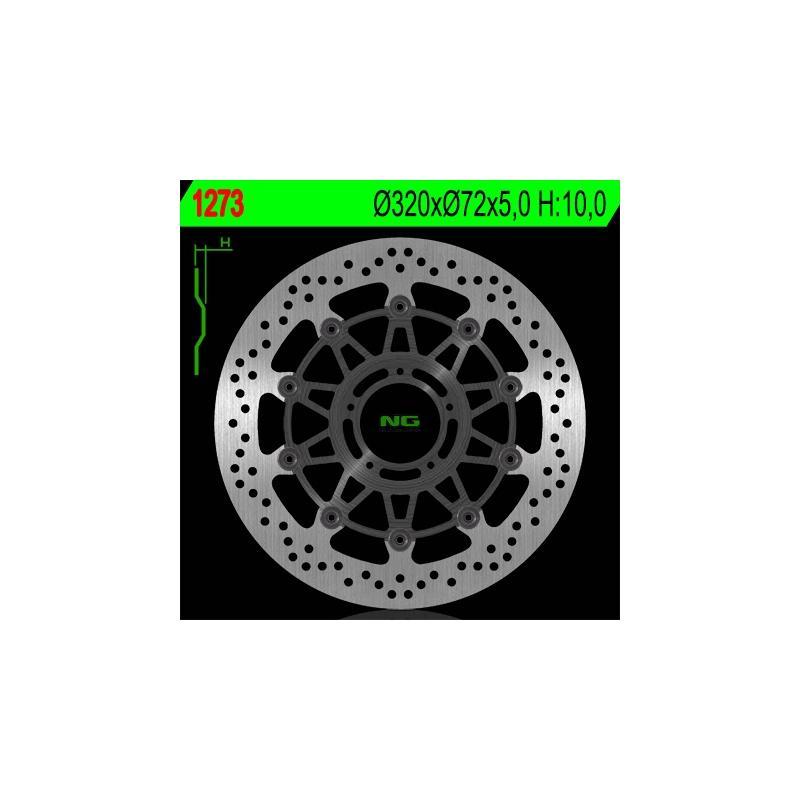 Disque de frein NG Brake Disc D.320 Ducati Monster 796 de 2011 à 2012 - 1273