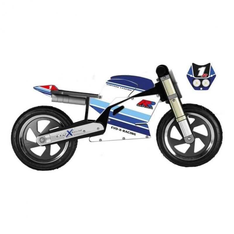 Draisienne moto Kiddimoto Superbike Suzuki GSXR vintage replica