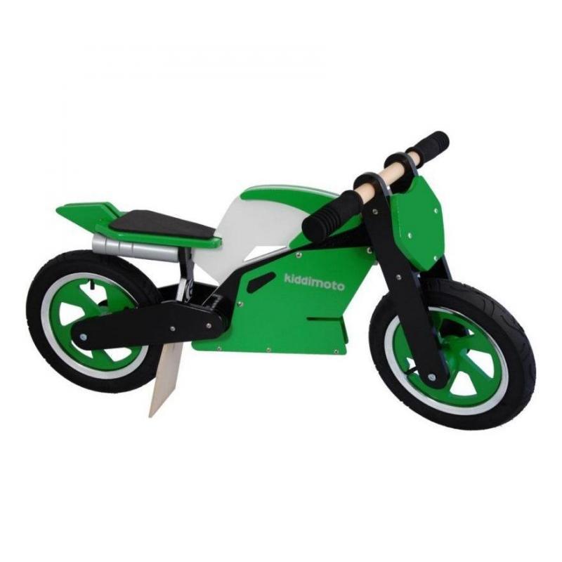 Draisienne moto Kiddimoto Superbike vert/blanc