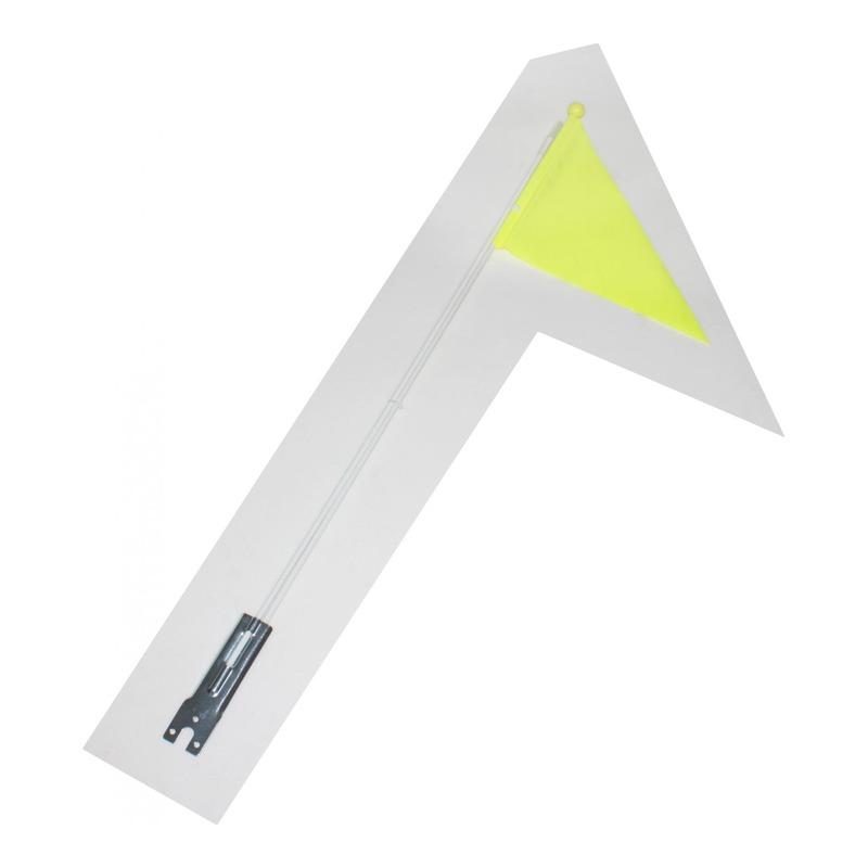 Drapeau de sécurité jaune fluo