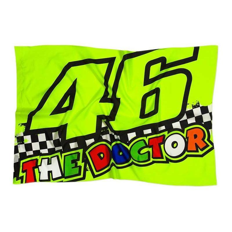 Drapeau VR46 The Doctor Race Flag multicolore