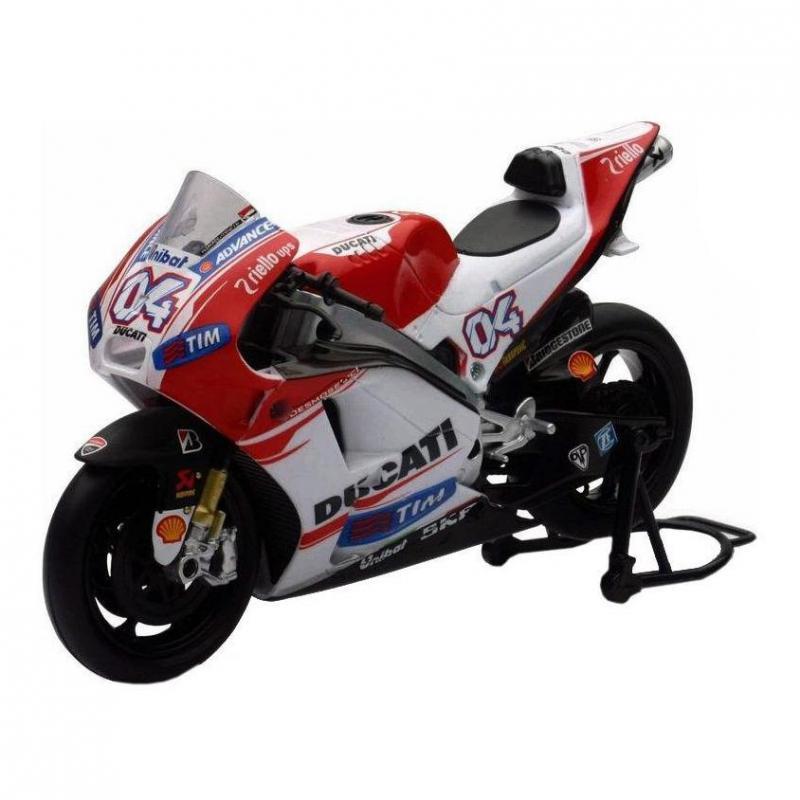 Ducati Moto GP 2015 Dovizioso Réplica 1:12 NewRay rouge/blanc