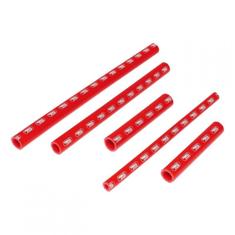 Durites de radiateur Samco Sport type origine Aprilia 450 RXV 06-11 rouge (5 durites)