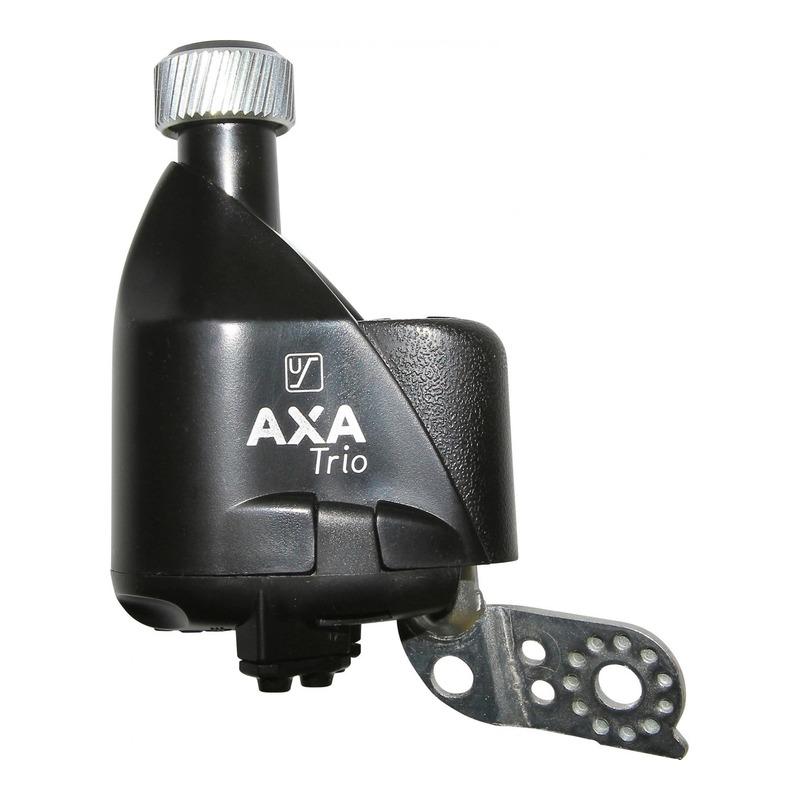 Dynamo Axa Trio galet acier noir (montage côté gauche)