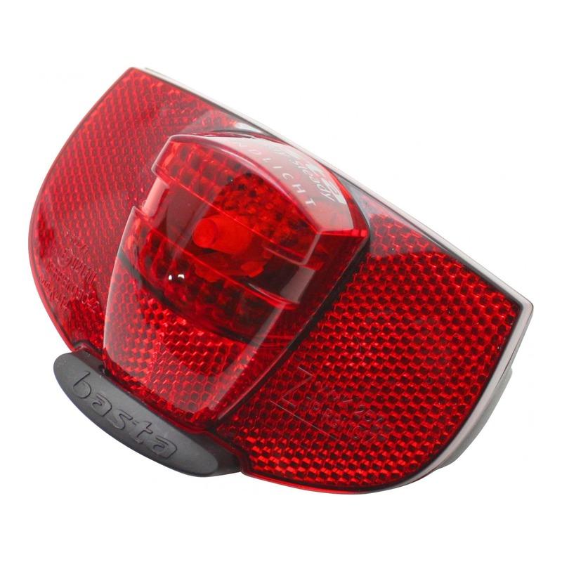 Éclairage arrière Axa Ray Steady sur porte-bagage rouge/noir (à dynamo)
