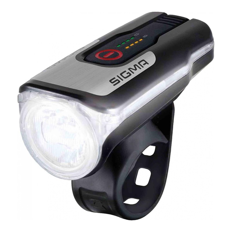 Éclairage avant Sigma Aura 80 Lux homologué noir/gris (à batterie)