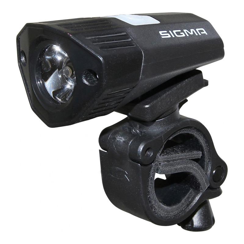 Éclairage avant Sigma Buster 100HL visibilité 50m noir (à batterie)