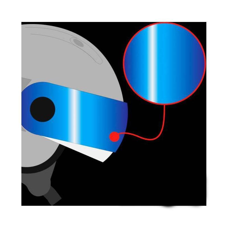 Écran bandeau Roof RO35 Cooper Iridium bleu