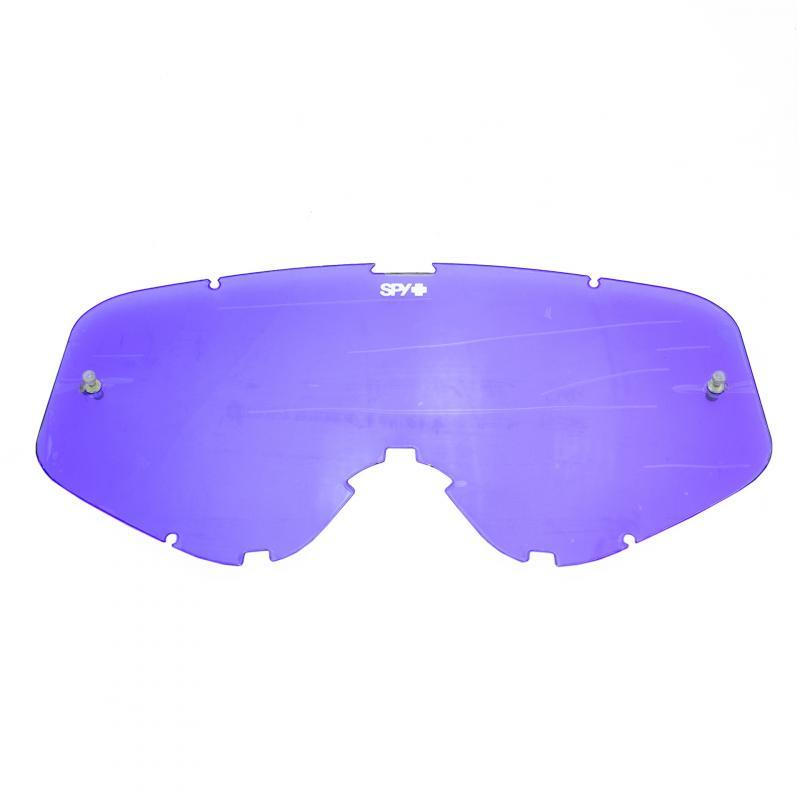 Écran de rechange fumé/Spectra bleu clair anti-buée pour masque SPY Woot / Woot Race