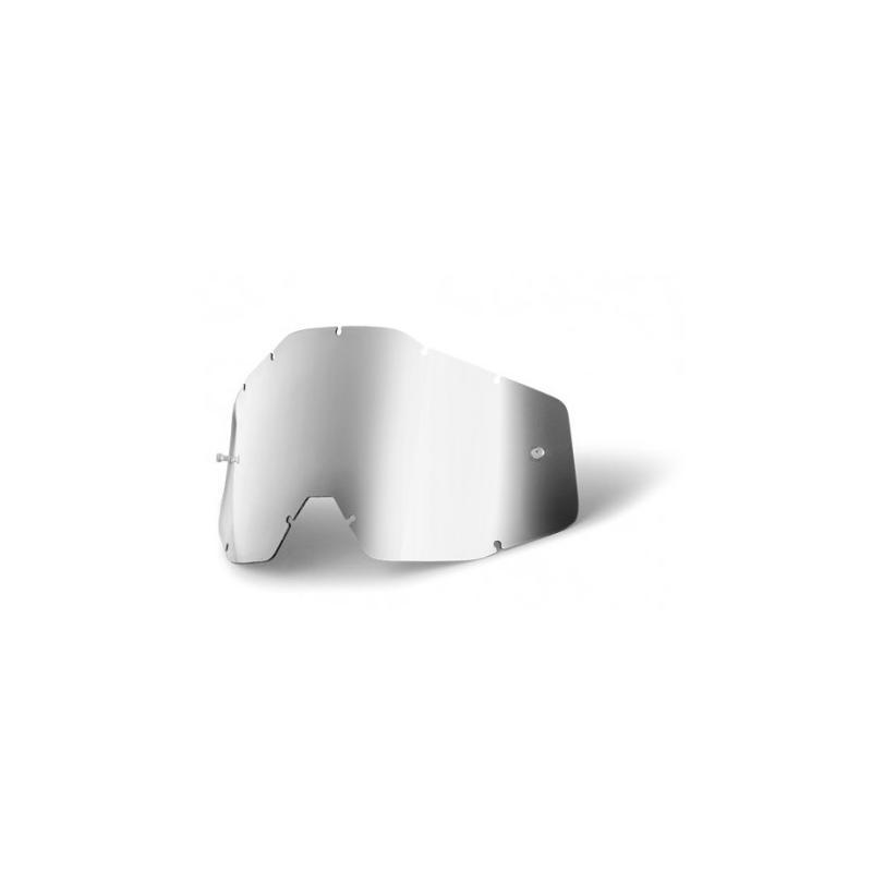 Ecran masque cross 100% argent miroir/fumé