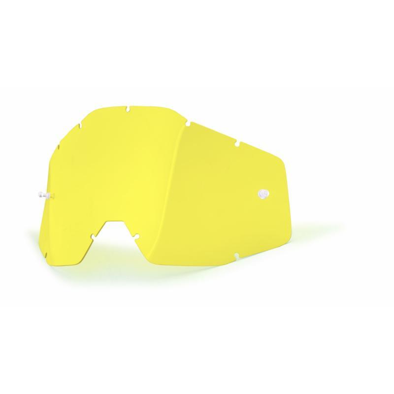 Ecran masque cross 100% jaune