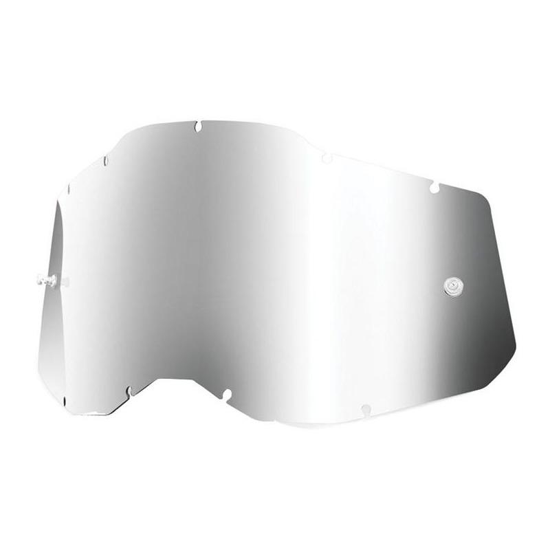 Écran masque cross 100% RC2/AC2/ST2 Iridium argent
