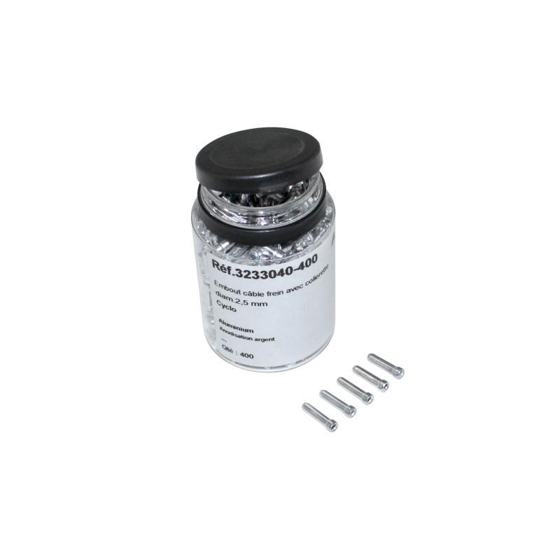 Embout de câble cyclo Algi diamètre 2,5mm - flacon de 400