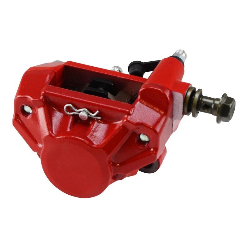 Étrier de frein arrière rouge Teknix pour Mbk / Yamaha Nitro / Aerox