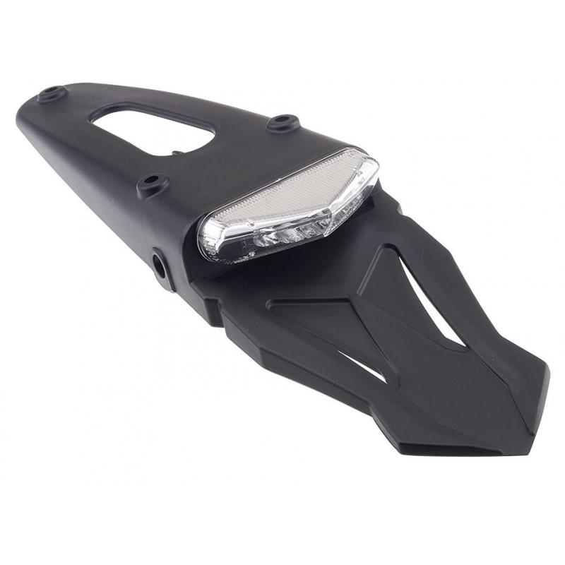 Feu arrière à LED avec support de plaque type enduro