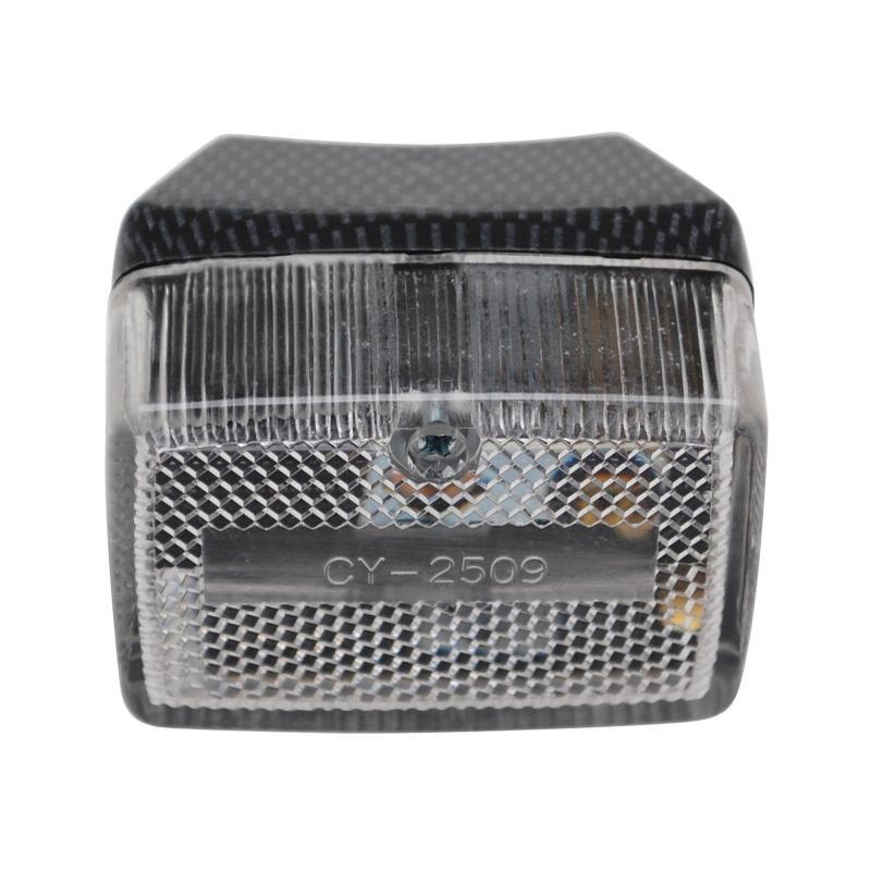 Feu arrière Replay RC transparent/carbone pour Peugeot 103/MBK 51
