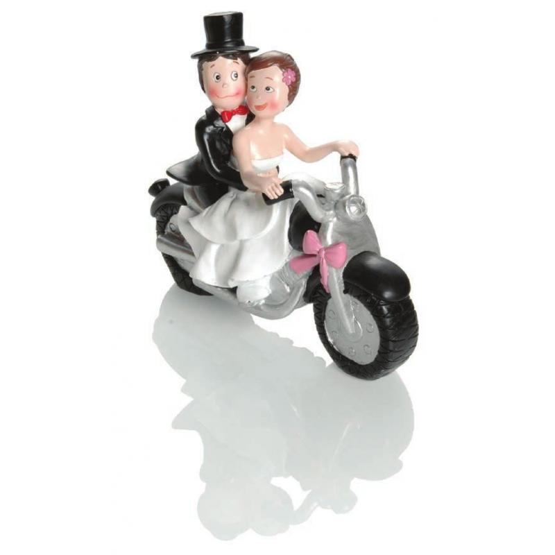 Figurine mariage Booster Motorbike 17cm