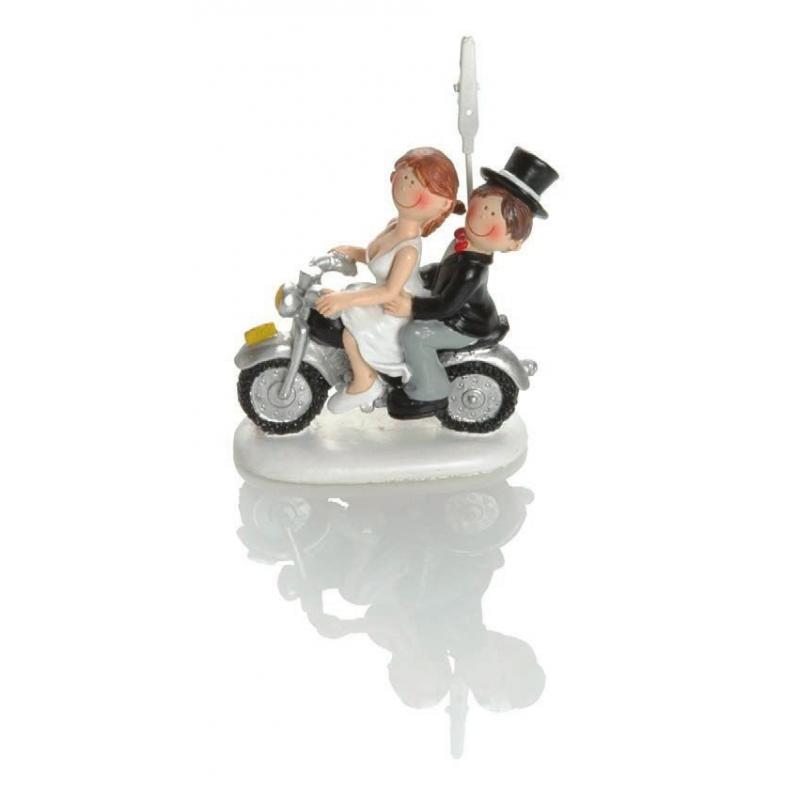 Figurine mariage Booster Motorbike 8cm