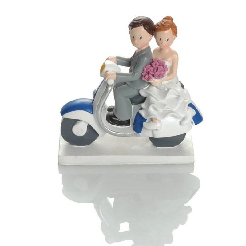 Figurine mariage Booster Scooter 15cm